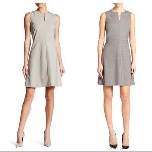Theory front split miyani dress wool stretch